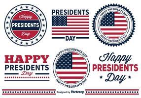 Badges du président Day vecteur