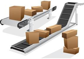 Vecteurs de courroies transporteuses vecteur