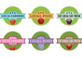 Vecteurs d'étiquettes de ferme locale vecteur