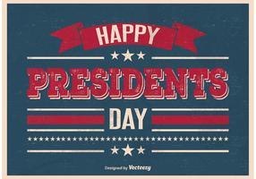 Affiche de jour des présidents de style vintage