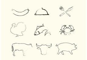 Vecteurs d'animaux incomplets vecteur
