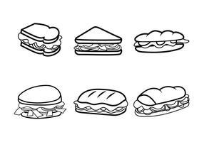 Sandwichs gratuits pour clubs de vecteurs vecteur