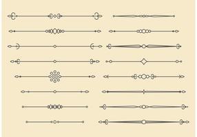 Design rétro des lignes d'ornement vectoriel