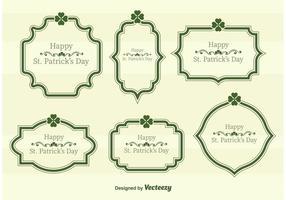 Cadres de texte vectoriel de Saint Patrick's Day