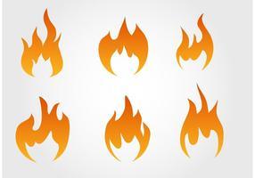 Collection de vecteurs d'incendie vecteur