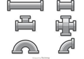 Vector de jeu de tuyaux d'égout