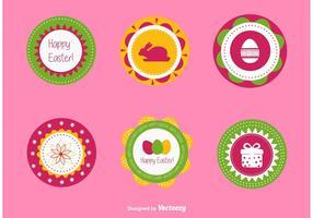 Vecteurs d'étiquettes de Pâques vecteur