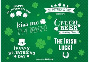 St Patrick's Day Label Vectors