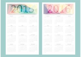 Calendrier vectoriel gratuit 2015 - 2016