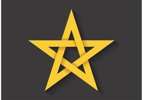Pentagramme de rapport gratuit Golden Golden vecteur