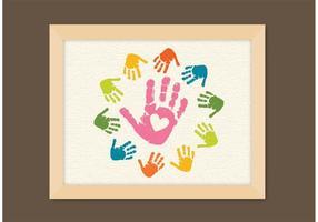 Vecteur libre d'empreintes digitales pour enfants