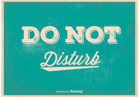 Ne pas déranger l'affiche vintage vecteur