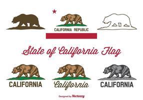 Vecteur de drapeau de la Californie