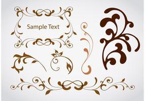 Éléments vectoriels de tourbillon de conception