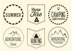 Ensemble d'étiquettes d'aventure vectoriel gratuit