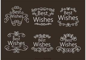 Swirl Best Wishes vecteurs d'ornement