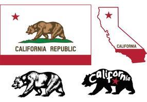 Vecteurs de drapeau de l'ours californien vecteur