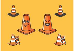 Icônes vecteur cône orange gratuitement