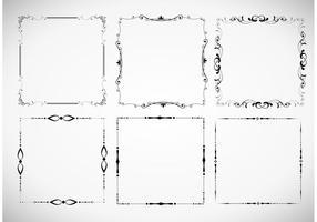 Ensemble de cadre de cadre floral vecteur