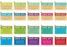 Collection de voeux de coupon de ciseaux vecteur
