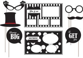 Éléments vectoriels Photobooth noir et blanc