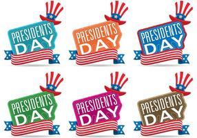 Vecteurs de jour des présidents vecteur
