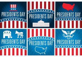 Cartes vectorielles du jour des présidents vecteur