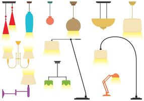 Vecteurs de lustres modernes colorés