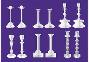 Vecteurs de chandelier en argent