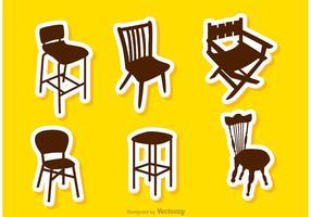 Vecteurs de chaises de restaurant silhouette vecteur