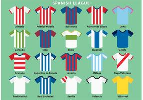 Vecteurs de vêtements de sport espagnols