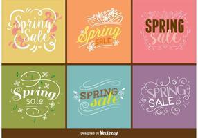 Vecteurs de signe de vente de printemps vecteur