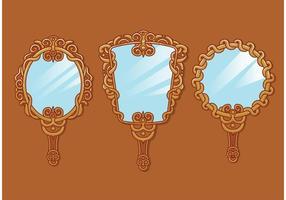 Vecteurs miroirs à main vintage vecteur