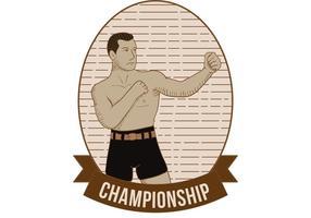 Vieux vecteur de boxe