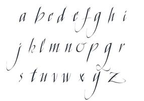 Pack gratuit d'alphabet de lettre de vecteur gratuit