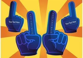 # 1 vecteurs de doigts en mousse