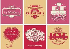 Vecteurs de signe de la Saint-Valentin vecteur