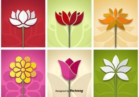 Vecteurs de fleurs vecteur