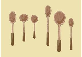 Illustrations en bois de Spoon Vector