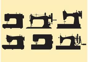 Définir des vecteurs de machines à coudre rétro vecteur