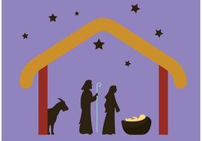Manger scène / Nativité vecteur