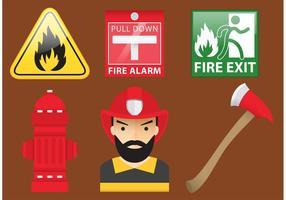 Vecteurs isolés du pompier vecteur
