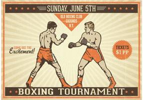 Affiche vectorielle vintage gratuite de boxe