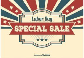 Illustration de la vente du jour du travail
