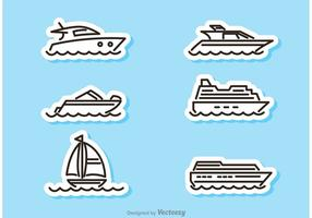 Vecteurs d'autocollants pour bateaux et bateaux