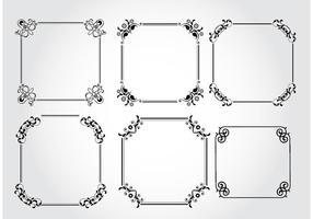 Cadres décoratifs vectoriels vecteur