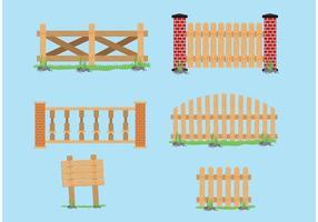 Vecteurs de clôtures vecteur