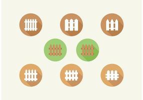 Ensemble d'icônes de vecteur de clôture de piquet