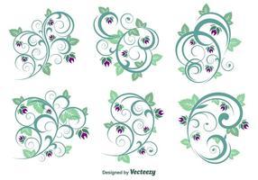 Vecteurs d'ornement floral vecteur
