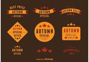 Étiquettes de vecteur d'affaire d'automne